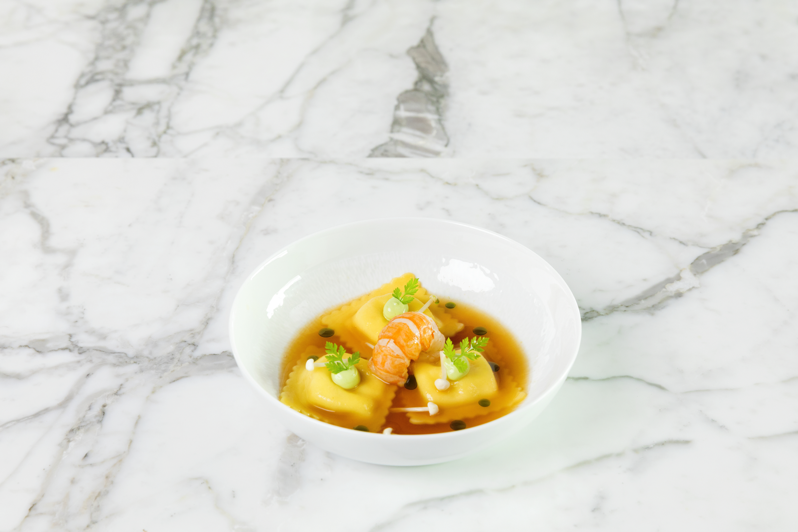 Chicken Stock plated